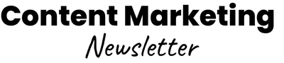 Content Marketing Newsletter Logo Black